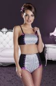 'Avanua Lingerie' Channel Polka Dot Top with Deep Brief ( UK Sizes 8 - 16 )